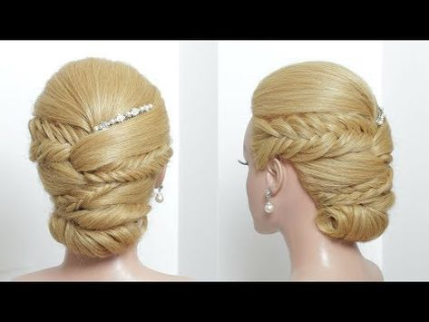How To Braided Updo For Long Hair Youtube Braided Hairstyles Updo Easy Hairstyles Long Hair Styles