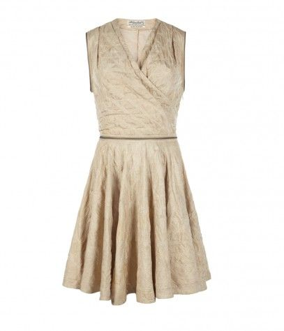 ce379b9f314 Quilted ivory faux wrap dress with semi-circle skirt from AllSaints ...
