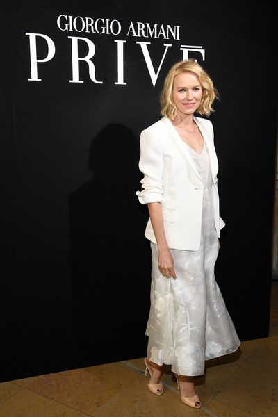 Naomi Watts attends the Giorgio Armani Prive Haute Couture Fall/Winter 2017-2018 show as part of Haute Couture Paris Fashion Week on July 4, 2017 in Paris, France.