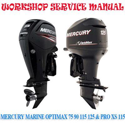 Mercury Marine Optimax 75 90 115 125 Pro Xs 115 Workshop Service Repair Manual Pdf Download Repair Manuals Mercury Marine Paddle Wheel