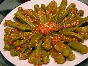 Sephardic okra in tomato sauce is another example of sephardic sephardic okra in tomato sauce is another example of sephardic good eats the recipe can be found at httpououprintthisreneegoodold forumfinder Image collections