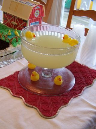 duck pond -farm party...we can get the drink fountains in closeouts and have like blue koolaid