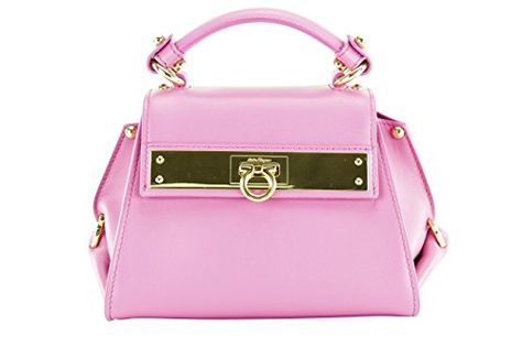 Salvatore Ferragamo Womens Sofia Mini Tote Bag - Pink Leather 808651585fc21