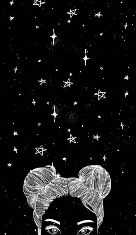Wall Paper Iphone Black And White Space 32 Ideas Witch Wallpaper Space Drawings Black And White Wallpaper Iphone