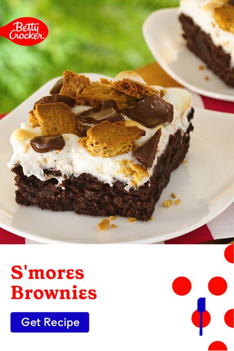 Made with Betty Crocker brownie mix, our S'mores Brownies are a fun indoor s'mores idea. Pin today for a sweet treat the kids can help with.