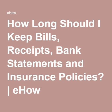 How Long Should I Keep Bills, Receipts, Bank Statements and - bank statements