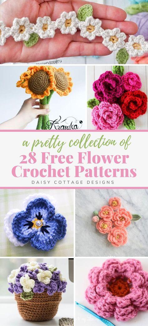 Crochet Flower Tutorial, Flower Crochet, Crochet Motif, Crochet Designs, Crochet Stitches, Knitting Patterns, Crochet Patterns, Embroidery Flowers Pattern, Crochet Gifts