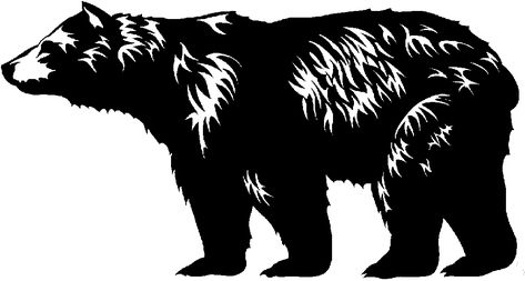 Modern Bear Black And Whit Clip Art Images Yahoo Image Search Results Grizzly Bear Drawing Bear Images Bear Silhouette