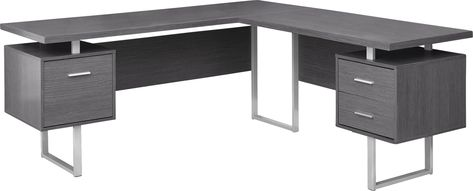 Wellyn Gray Desk Grey Desk L Shaped Corner Desk Desk