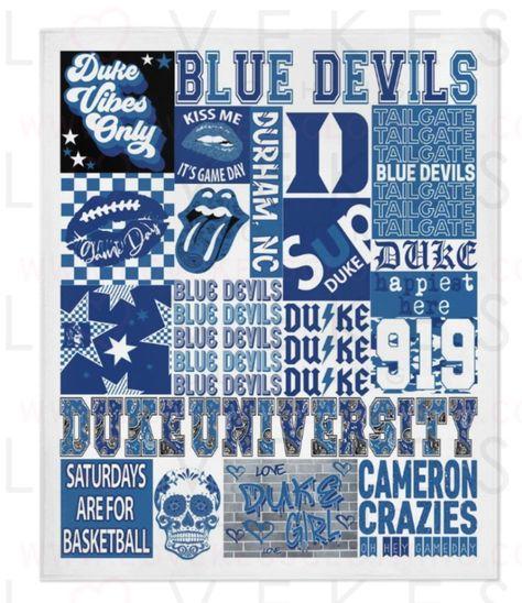 Duke University College Spirit Blanket by LoveKess Clothing