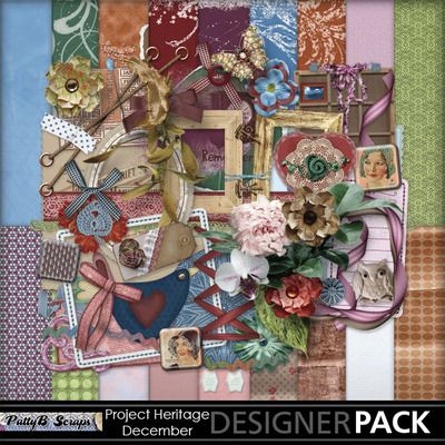 Digital Scrapbooking Kits | Project Heritage-December-(PattyB) | Everyday, Family, Friends, Heritage, Memories, Vintage | MyMemories