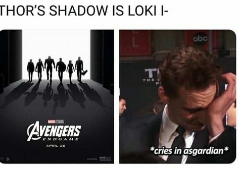Aww Loki it's ok<<<are we gonna ignore Steve's shadow is Bucky? Y'all are heartless if you don't live Bucky just as much as Loki. Avengers Humor, Funny Marvel Memes, Marvel Jokes, The Avengers, Dc Memes, Funny Memes, Thor Jokes, Loki Meme, Nerd Memes