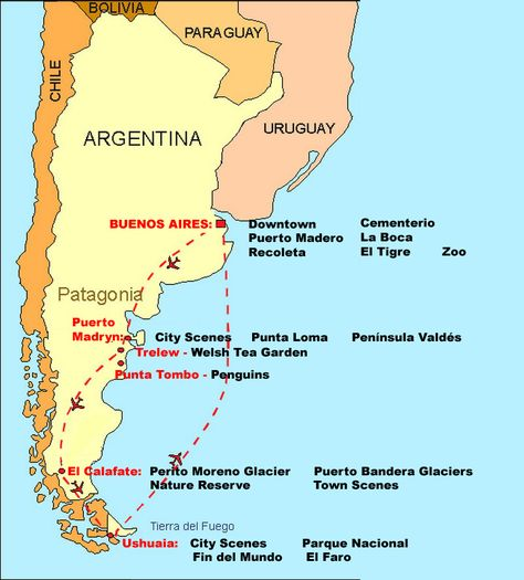 Best Patagonia Images On Pinterest South America Fire And Travel - Argentina map ushuaia