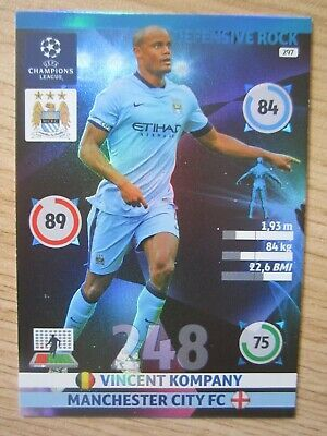 Sponsored Champions League 2014 15 Defensive Rock Card Vincent Kompany Of Manchester City In 2020 Vincent Kompany Manchester City Champions League