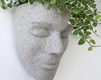 Head Planter Wall Planter Headplanters Face Planter Wall Etsy In 2020 Face Planters Wall Planter Head Planters