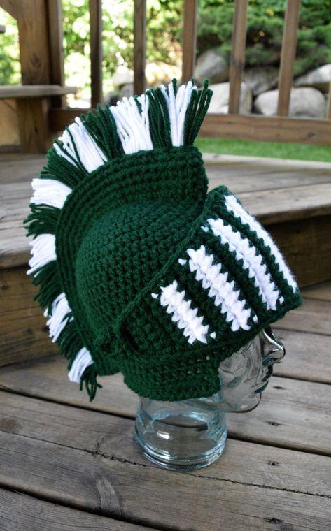Spartan Helmet | Knight/Trojan/Greek | Gladiator | Crochet Hat ...