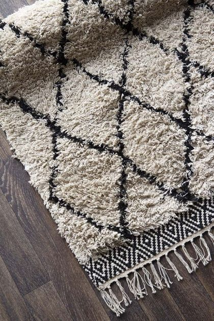 Black Diamond Benni Style Cotton Rug