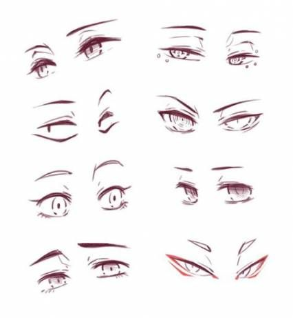 Best Eye Reference Anime 45 Ideas Anime Eye Drawing Eye Drawing Drawing Expressions