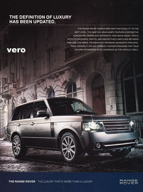 Range Rover 2010 Magazine Ad Print Art Clipping Car Automobile Advertisement Range Rover Vintage Advertisements Car Ads
