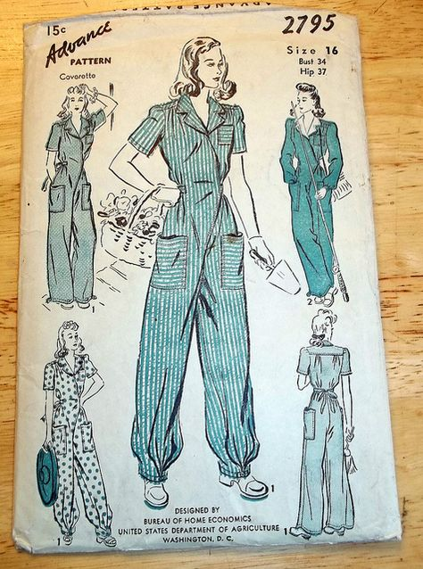 Rosie the Riveter coveralls pattern inspiration | Flickr - Photo Sharing!