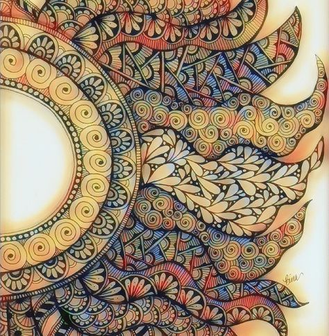 Image result for sun doodle patterns step by step | Zentangle in