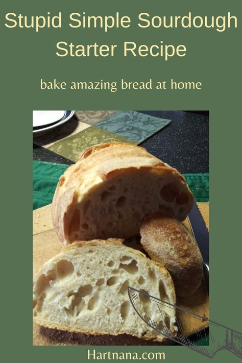 Bake amazing bread at home without waiting for the starter to develop! #hartnana #artisanbread #sourdoughbreadrecipe