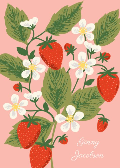 Our custom, planners feature Paper Source exclusive designs that can be personalized with your name. Strawberry Drawing, Strawberry Art, Pattern Floral, Fruit Illustration, Posca, Fruit Art, Simple Art, Graphic, Cute Art