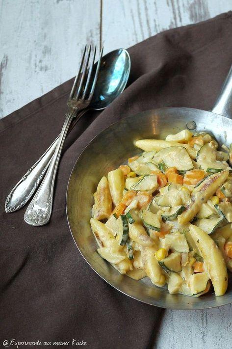 Vegetarische Schupfnudelpfanne - experimente aus meiner küche