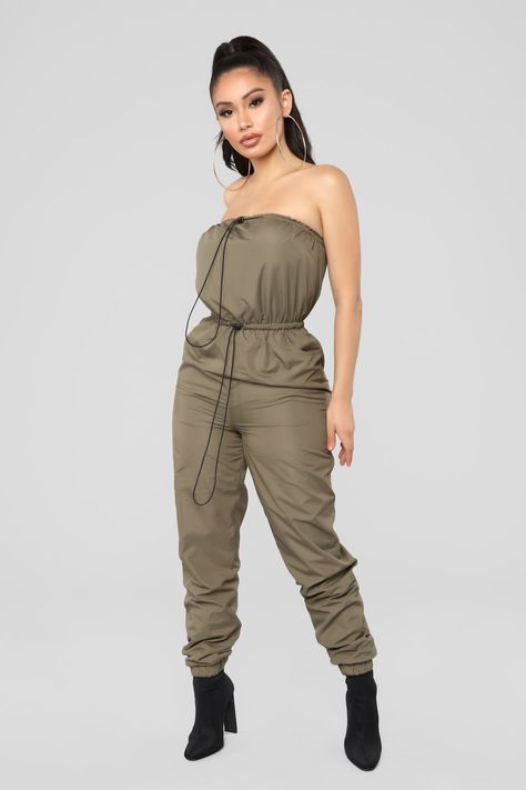 460fc88b549 Don t Stop Me Jumpsuit - Olive in 2019