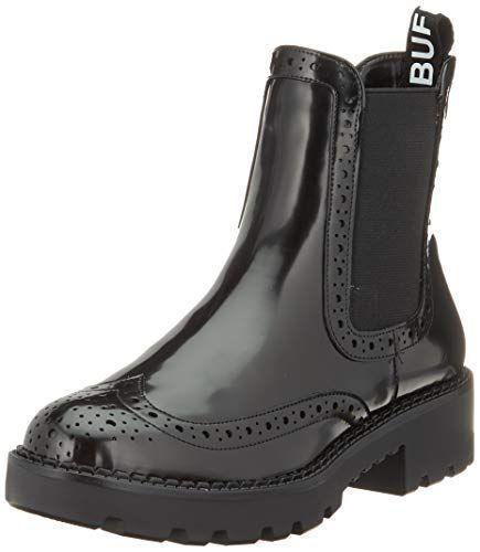Buffalo Damen Fini Stiefeletten Schwarz Black 001 39 Eu Schuhe Damen Damenschuhe Und Stiefeletten
