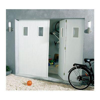 Porte De Garage 4 Vantaux Pvc Hublots Helsinki L 240 X H 200 Cm En Kit En 2020 Porte Garage Garage Et Castorama