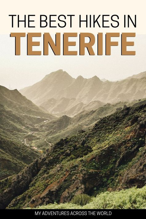 There are many reasons why Tenerife is one Spain's most visited islands. Blessed with a beautiful climate, it is a paradise for surfers, who find persistently good waves. Also, there are many incredible hikes in Tenerife, that it would be a real pity to miss out on them while on the island. Check out the best places for hiking in Tenerife + other useful information. #tenerife #canaries #canaryislands #spain #hiking #hikingtips