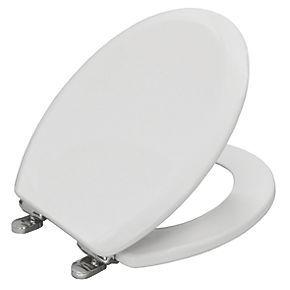 Carrara Matta Elwood Soft Close Toilet Seat Moulded Wood White