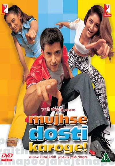 Watch Mujhse Dosti Karoge 2002 Full Hindi Movie Free Online Director Kunal Kohli Starring Rani Muker Hindi Movies Online Hindi Bollywood Movies Hindi Movies