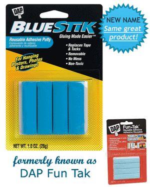 Dap Dap Bluestik Reusable Adhesive