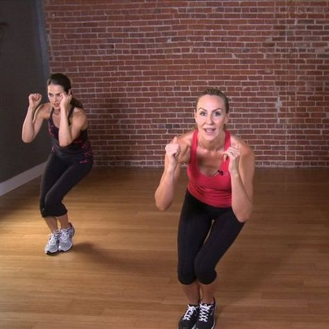 Victoria's Secret model's full body 10 min workout circuit. It'll get you very sore, but it's easy, fun and since it's only 10 minutes you can hang in there!