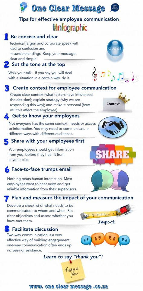 8 tips for #Effective #EmployeeCommunication #Infographic - effective employee management strategy