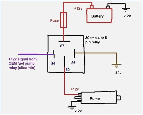 50 Fresh 12 Volt Relay Wiring Diagram In 2020 Circuit Diagram Relay Electrical Diagram