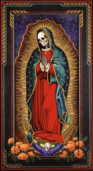 Santa Muerte Virgain Mary Skeletonia Producao De Arte Fotos