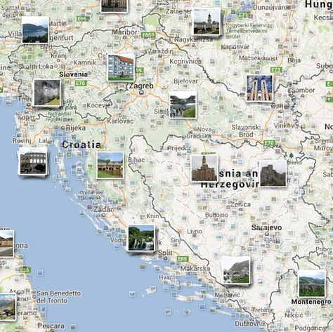 Photo Google Map Of Croatia And Slovenia Link Takes You Directly To The Map With Pics If Pics Don T Show Select Photo Option Karlovac Croatia Varazdin