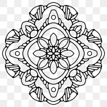 Circular Mandala Isolated For Henna Or Tattoo Floral Indian Mandala Png And Vector With Transparent Background For Free Download Mandala Flower Henna Wedding Drawing