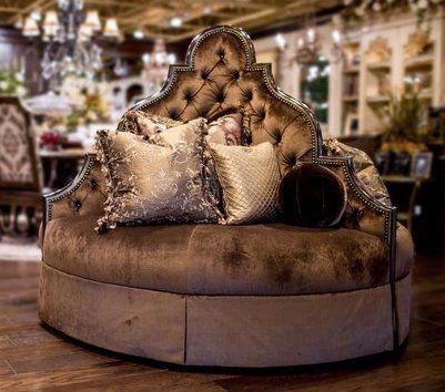 Luxury Furniture. Round Sofa Foyer Or Lobby Seating | Round Sofa, Round  Couch And Luxury Furniture