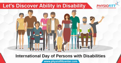 Disability is NOT inability!  This #WorldDisabilityDay let's promote an understanding of people with disability and encourage support for their dignity, rights and well-being. . . . #InternationalDisabilityDay #Happiness #Success #Disable #Successful #Ability #Disability #Dignity #Rights #PhysiofittPhysiotherapyCenter #DrNuzhat