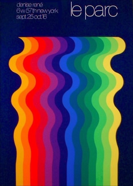 Julio Le Parc exhibition poster Gallery Denise Rene, New York, 1973