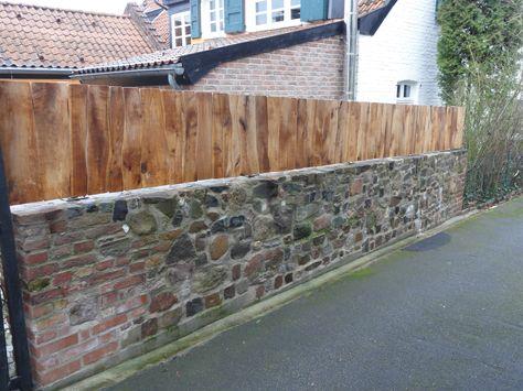 Natursteinmauer Bauanleitung zum selber bauen Gartenmauer - sichtschutz auf sttzmauer