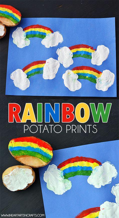 Rainbow Potato Printing