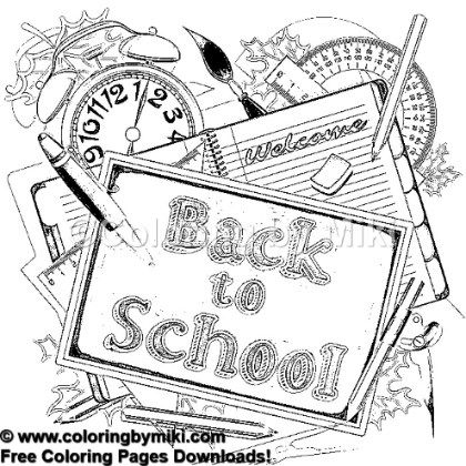 Back To School Coloring Page 920 School Coloring Pages
