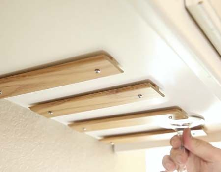 How To Make A Wine Glass Rack Diy, Under Cabinet Wine Glass Holder Wood