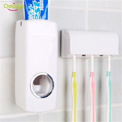 1 Set Tooth Brush Holder Automatic Toothpaste Dispenser 5 Toothbrush Holder Toothbrush Wall Moun Toothbrush Holder Wall Brushing Teeth Toothpaste Dispenser