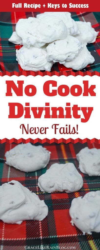 Easy No Cook Divinity | Recipe in 2020 | Candy recipes, Christmas